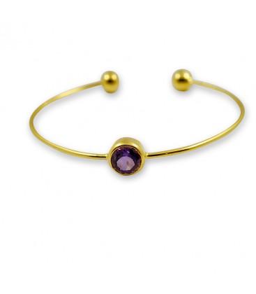 Purple Marble Bracelet