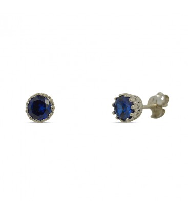Solitaire Stud Silver