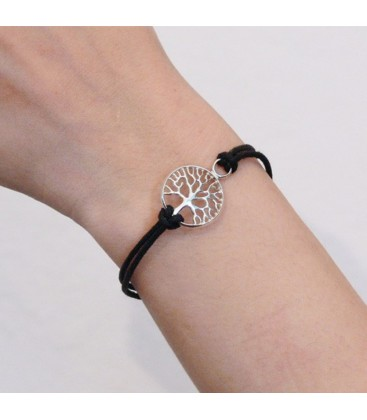 BLACK TREE OF LIFE CORD BRACELET
