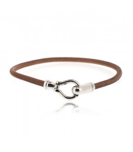 Men's BROWN HOOK LEATHER BRACELET