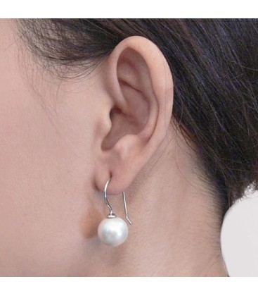 FRENCH WIRE PEARL EARRING
