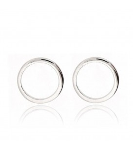 Kreis Sterling Silber Ohrringe