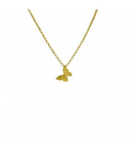 butterfly chain gold plated