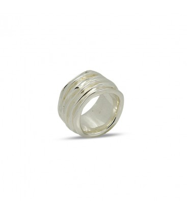 Waves Ring Silber