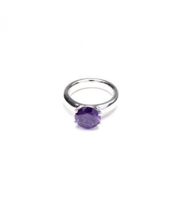 Solitär Ring Silber