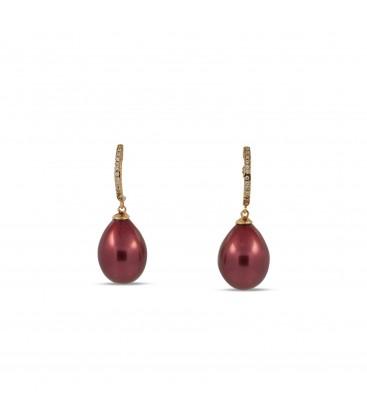 Eden earring pearly burgundy
