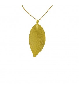 REAL LEAF CHAIN GOLD