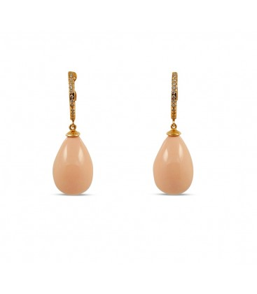 Eden earring pearly blush