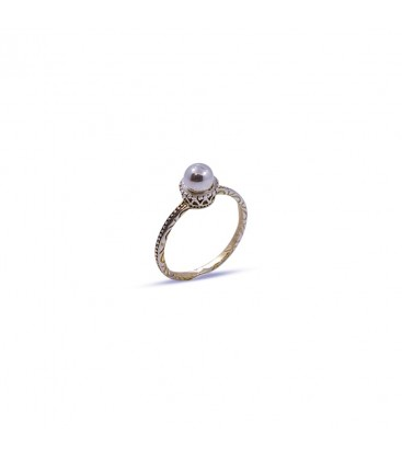 Ring Silver Pearl
