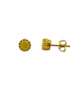 SOLITAIRE STUD YELLOWGOLD