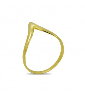 Chevron Thumb Ring Gold
