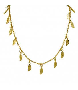 Long Leaf Chain Gold