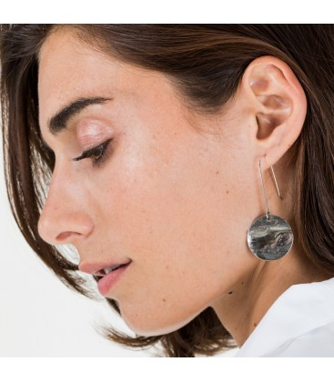 Coin 25 Earring Silver