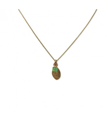 Delicate Leaf Necklace Green