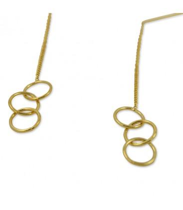 Trio Earrings Gold