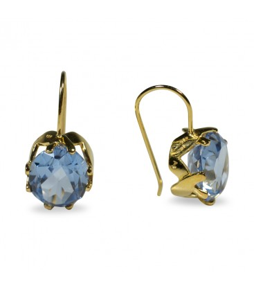 Princess of Wales Earrings Gold Blue