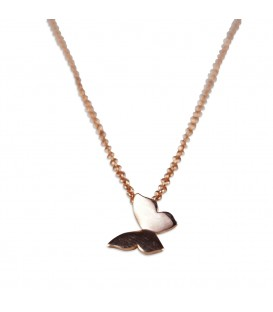 butterfly chain rose gold