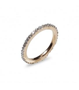 Diamantband Verlobungsring 14k Rotgold