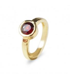 Ring Granatapfel Gelbgold