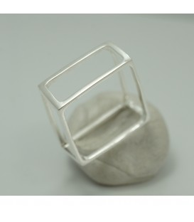 Square Ring Silber