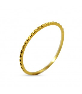 Tiny Gold Ring With Garland Pattern