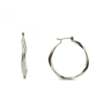 Hoop Earrings Twist