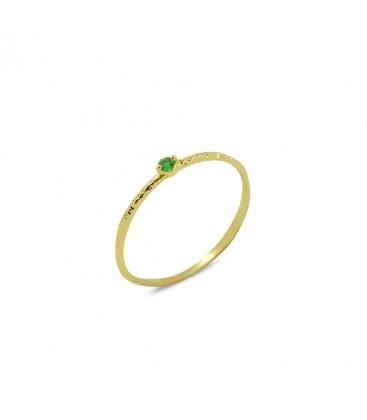 Tiny Mini Ring Green