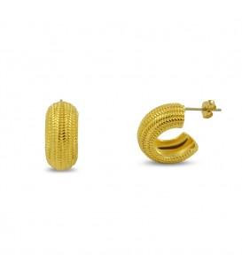 Gold Schneckenohrringe