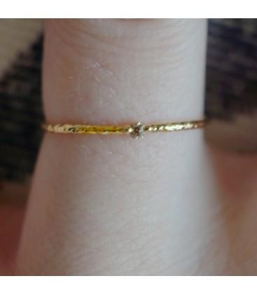 Tiny Mini Ring Brown Diamond