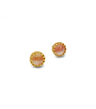 Orange  STUDS EARRING