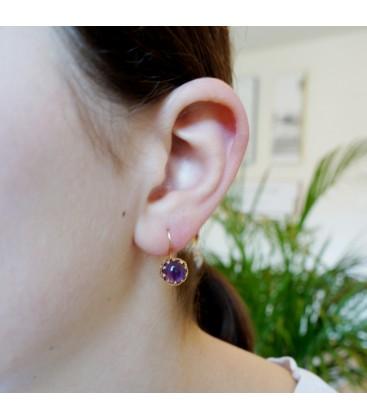 Amethyst Studs Earrings
