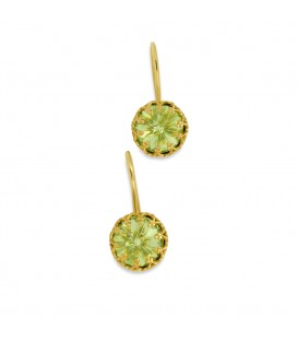 Crown Earrings Green