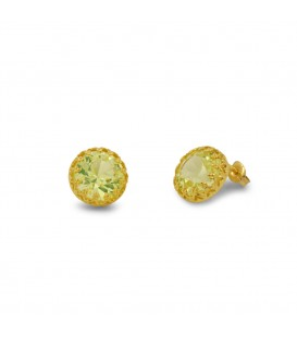 Green Crown studs earrings
