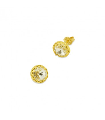 Crown studs earrings
