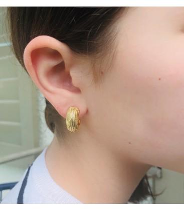 Gold snail earrings