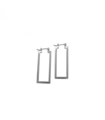 Silber Bauhaus Ohrringe