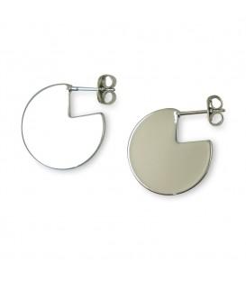 Dreiviertel Ohrringe Silber