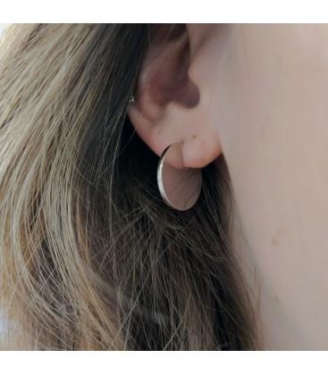 Three Quarters Earring Silver