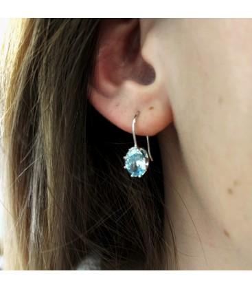 Little Princess Earrings Light Blue Silver
