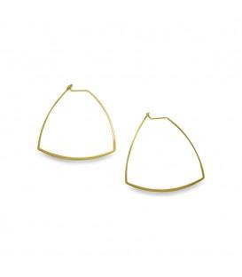 Triangle Hoop Earrings Gold