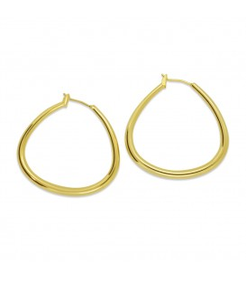 Saturdway Hoop Earrings Gold