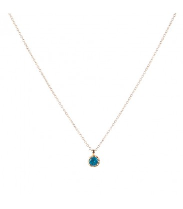 Topas 18 Ct Yellow Gold Solitaire Necklace