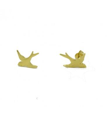 Schwalbe Ohrringe Gold
