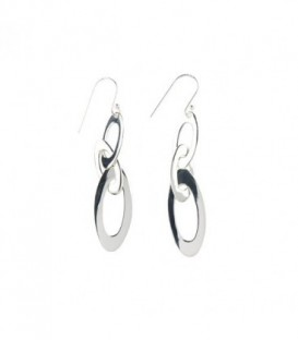 Trioval Earring Silver
