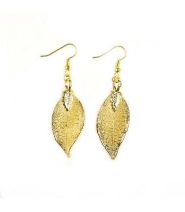 Ohrringe Blätter Gold
