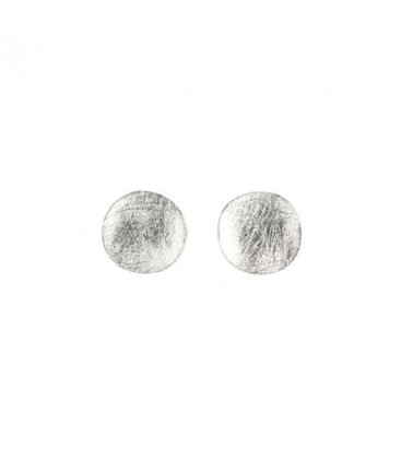 Silver Button Earring