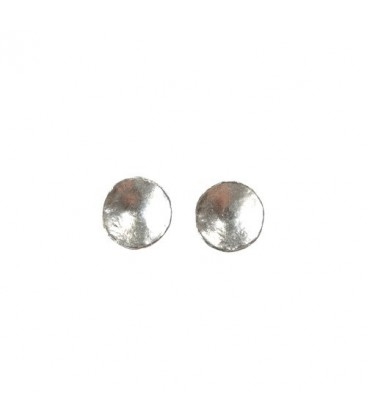 Curve Button Earring Silver