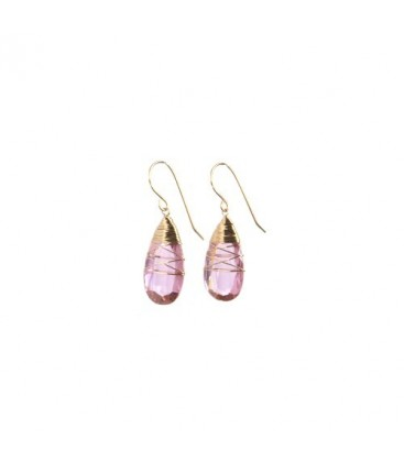 Clear Pink Earring